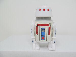 R5-D4 Stan Solo Cartoon droid custom action figure. Vintage-style Star Wars.