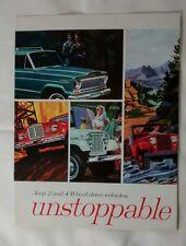 Jeep Wagoneer Gladiator Tuxedo Park Mark IV Universal Sales Brochure c. 1968