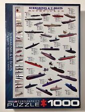 Eurographics 1000 Piece Puzzle Submarines And U-Boats Made In USA