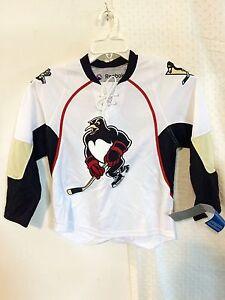 Reebok Youth AHL Jersey Wilkes-Barre/Scranton Penguins Team White sz S/M