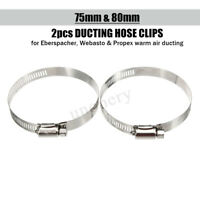 2PC 75MM + 80MM Warm Air Ducting Hose Clamp Clip For Eberspacher Webasto Propex