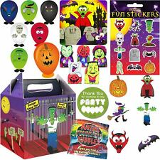 Kids Pre Filled Halloween Party Bags Boxes for Children Favour Gift Box