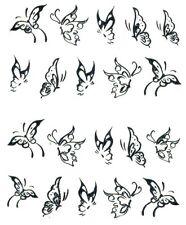 One Stroke Sticker,Tiere,Schmetterling,Silber,Tattoo, Aufkleber  Nr.1364