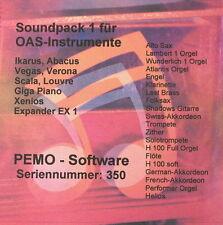 PEMO Software Soundpack 1 für Wersi OAS Instrumente