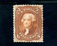 USAstamps Unused VF-XF US Series of 1861 Jefferson Scott 75 OG MVLH Rare