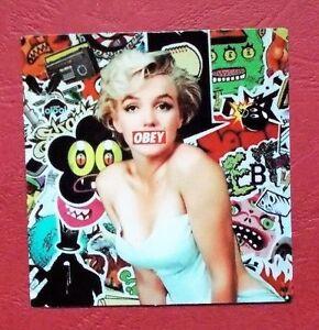 "Sticker Decal "" Marilyn Gloss-Optics - Stickerbomb Laptop Skateboard"