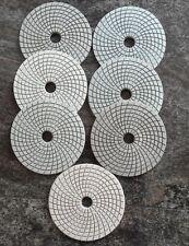 "Diamond Polishing Pads 125mm 5"" Wet 7 Pcs Set For Granite Marble Concrete etc.."