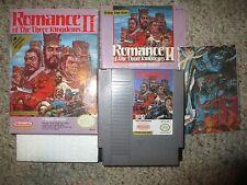 Romance of the Three Kingdoms II 2 (Nintendo NES 1991) 3 Complete w/ Poster GOOD