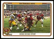 1982 Fleer Teams in  Action #49 - Joe Montana Rookie San Francisco 49ers - NM-MT