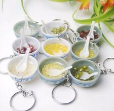 FD3239 Food Simulation Key Chains Chinese Blue and white porcelain Food Bow 1PC