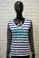 Maglia a Righe Donna NAPAPIJRI Taglia M Blusa Manica Lunga Cotone Shirt Women's