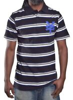 Zoo York Men's Logo Front Stripe Rugby Polo Shirt Size Medium