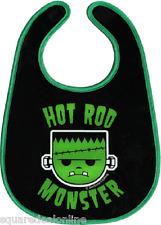 87006 Young Frankenstein Monster Black Bib Sourpuss Hot Rod Feeding Kids Baby