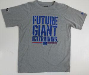 Under Armour New York Giants Boys Size YMD Medium Short Sleeve T-Shirt Gray NWT
