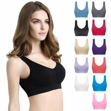 Women Seamless Gym Sports Bra Wireless Yoga Crop Tops Vest Comfort Stretch Bras