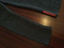 As New PRADA Made In Italy 100% Wool Ribbed Crewneck Jumper Grey Men's 54 L