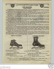 1924 PAPER AD Alfred Johnson Hockey Skates Racing Skates