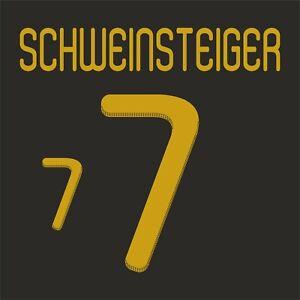 Schweinsteiger 7. Germany Away football shirt 2010 - 2011 FLEX NAMESET NAME SET