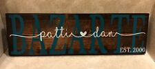 "Custom made personalized wood ""couples"" sign - Great wedding gift"