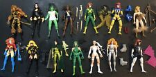 Marvel Hall Of Fame She-Force Lot Of 14 Toy Biz Action Figures 1996 Ms. Captain