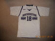 Northwestern Wildcats Football Jersey Under Armour #18 White Heat Gear Medium W@