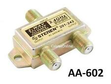 2-Way F-Type 2.4GHz 90dB Power Pass F-Splitter, CablesOnline AA-602