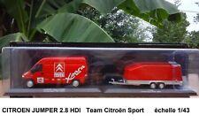 CITROEN JUMPER 2.8 HDI Camion d' Assistance RALLYE 1/43 Team CITROEN SPORT Neuf