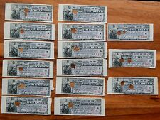 15 Rare 1910's - West End Street Railway - $22.50 Bond Coupons - 15 Total