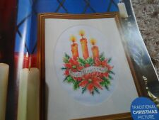 christmas  candles cross stitch chart pattern only ch83a