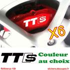 6 Stickers pour étriers de Frein TTS - Autocollants pour Audi TT Sline - 159