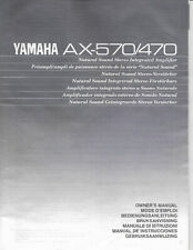 Yamaha AX-570 AX-470 Integrated Amplifier Original Owner's Manual