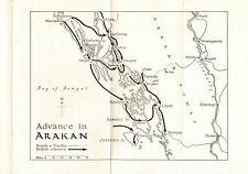 Map of Advance in Arakan 1942-1943