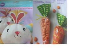 CARROT OR EASTER BUNNY SHAPED PARTY BAGS 15 BAGS