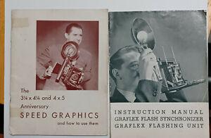 Speed Graphic Original Instruction Manual Plus Graflex Flash Unit Instructions