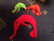 A GIANT CATNIP PRAWN and 2 SMALL PRAWNS Sold For Whinnybank Cat Sanctuary