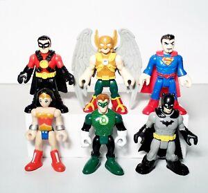 Imaginext DC Justice League Lot 6 Hawkman Green Lantern Wonder Woman Figures