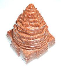 Sunstone Meru Shree Yantra / Shree Yantra In Sun Stone - 88 gm