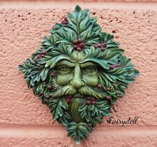 'BERRY BEARD'  GREEN MAN WALL PLAQUE ~24cm GREENMAN TREE SPIRIT SPRITE ~PAGAN
