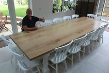 12-14 seater Large Chunky Dining Table, Thick 54mm Solid Oak top,Any colour