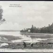 CPA 35 Les Bords De La Rance St Servan Agriculteurs Bretagne Antique Postcard
