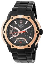 Orologi Bulova Marine Star Uomo acciaio nero oro black gold steel watches 98C106