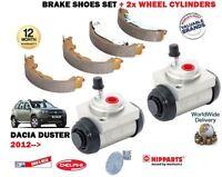 Per Dacia Duster 1.2 1.6 1.5 DCI 2012- > Posteriore Set Ganascia Freno + 2x