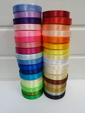 2 Rolls 12mm satin ribbon 26 metres UK Wedding Christmas Xmas Crafts UK VAT Reg