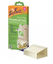 The Buzz Household Pest Glue Trap  SPIDERS,COCKROACHES, SCORPIONS - 4 Pack