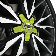 Genuine Toyota  C-HR Centre Caps x-4 Lime Green PW458-10005