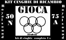 ★KIT CINGHIE DI RICAMBIO 4 x PROIETTORE S.8 mm GIOCA ROYAL SOUND 50/N & 75/A★