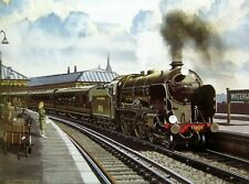 More details for splendid southern railway print st pauls locomotive & express at waterloo 1930s