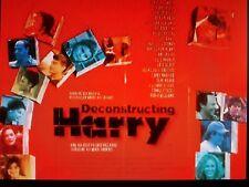 DECONSTRUCTING HARRY 1997 UK FILM POSTER WOODY ALLEN, DEMI MOORE ET AL PRICEDROP