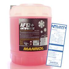 Mannol Antifreeze G12+ Kühlerfrostschutz 10L Rot AF12+ bis - 40°C für AUDI VW