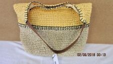 SALE!!!!  NEW SUMMER! SONOMA LADIES LARGE STRAW BAG COLOR YELLOW